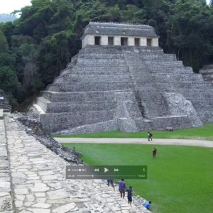 The Marvelous Ancient Mayan Site Of Palenque In The Jungle Of Mexico